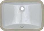 2214 White Porcelain Rectangle Sink