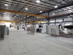 new production facility stone fabrication