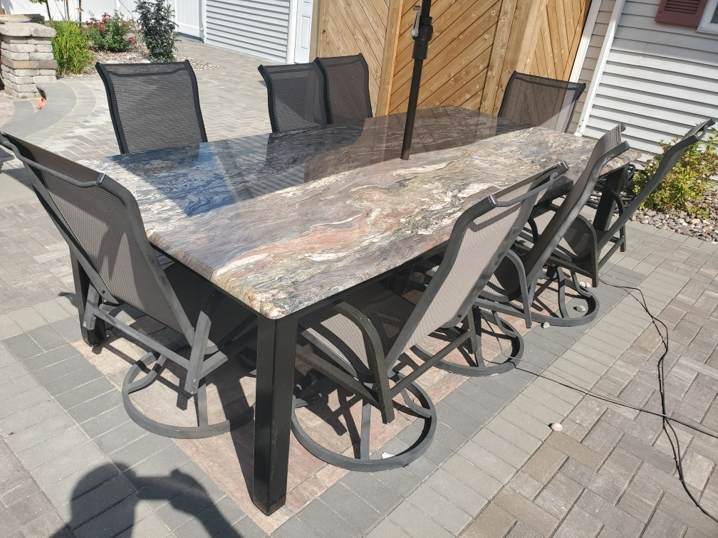 outdoor granite table
